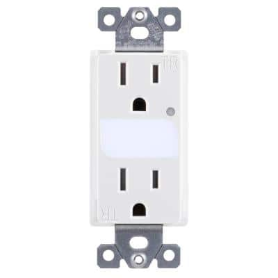 Grounded Duplex LED Guide Light Receptacle