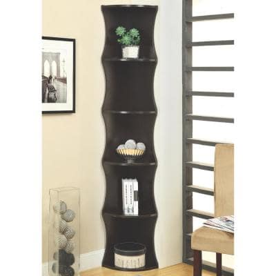 Hoffman Cappuccino Corner Bookcase