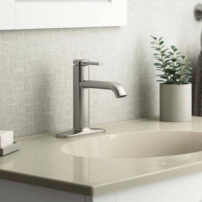 Ashan Single Hole Single-Handle Bathroom Faucet in Vibrant Brushed Nickel