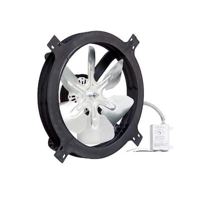 1320 CFM Black Electric Powered Gable Mount Electric Attic Fan