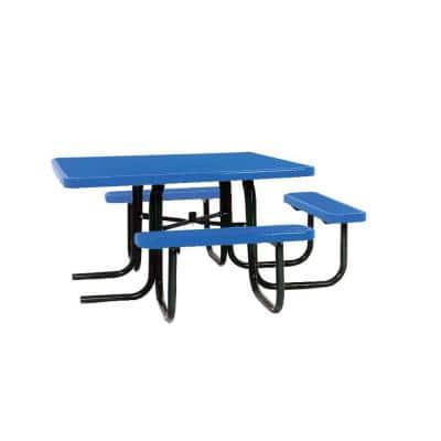 46 in. x 55 in. Diamond Blue Commercial Park Surface Mount and Portable ADA Square Table