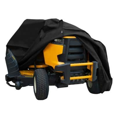 Chalet Zero-Turn and Riding Lawnmower Cover, Fits Decks Up to 62 in., 82 in. L x 50 in. W x 47 in. H, Black