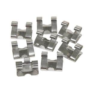 Stainless Steel Hinged Gutter Guard Clips (8-Pack)