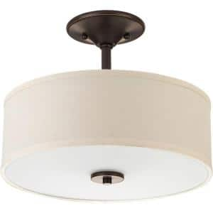Inspire 2-Light Antique Bronze Semi-Flush Mount