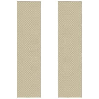 Medallion Tan 2 ft. x 10 ft. (2-Piece) Rug Set