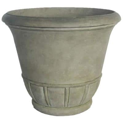 19.25 in. Dia Stone Tempo Pot in Aged Granite Finish