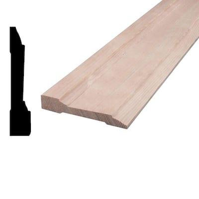 5/8 in. x 3-1/4 in. x 96 in. Mixed Grain Hemlock Wood Casing Moulding