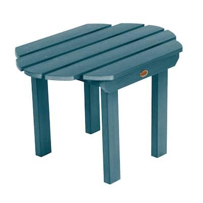 Classic Westport Nantucket Blue Regtangular Recycled Plastic Outdoor Side Table