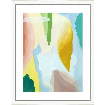 """Pastel watercolor VI"" Framed Archival Paper Wall Art (24 in. x 28 in. in full size)"