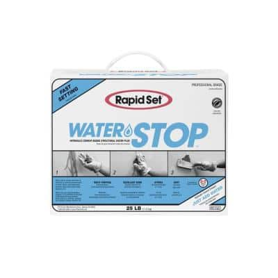 25 lbs. Water Stop Hydraulic Cement in Gray