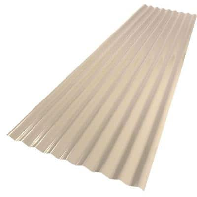 26 in. x 8 ft. PVC Roofing Panel Tan