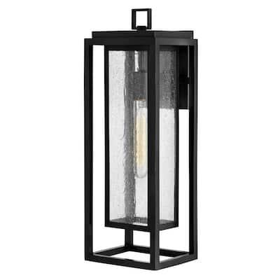 Republic 1-Light Black Outdoor Wall Lantern