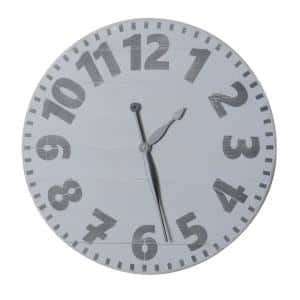 36 in. Oversized Gray Industrial Style Wall Clock