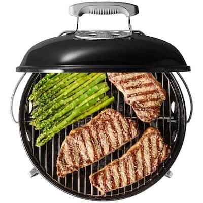 Smokey Joe Premium Portable Charcoal Grill in Black