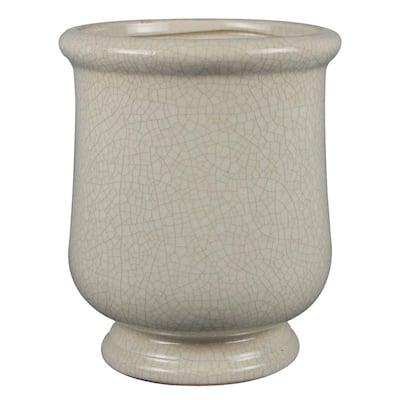10.5 in. Ivory Ceramic Lugano Urn