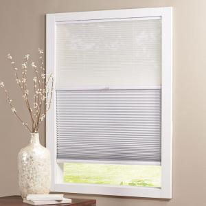Snow Drift/Shadow White Cordless Day and Night Blackout Cellular Shade  - 21.25 in. W x 64 in. L