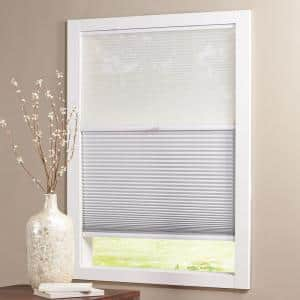 Snow Drift/Shadow White Cordless Day and Night Blackout Cellular Shade  - 21.5 in. W x 64 in. L