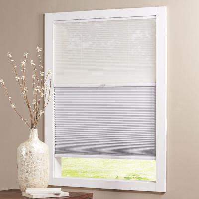 Snow Drift/Shadow White Cordless Day and Night Blackout Cellular Shade  - 22 in. W x 64 in. L