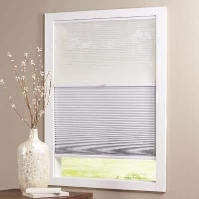 Snow Drift/Shadow White Cordless Day and Night Blackout Cellular Shade - 59 in. W x 64 in. L