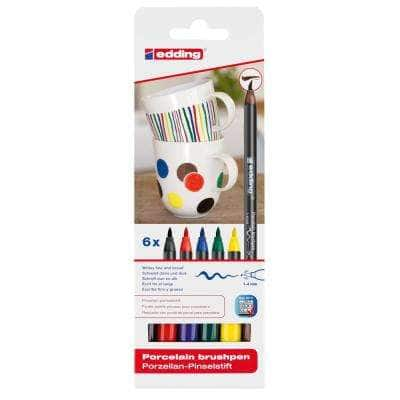 4200 Porcelain Brush Pen Set, Basic (6-Colors)