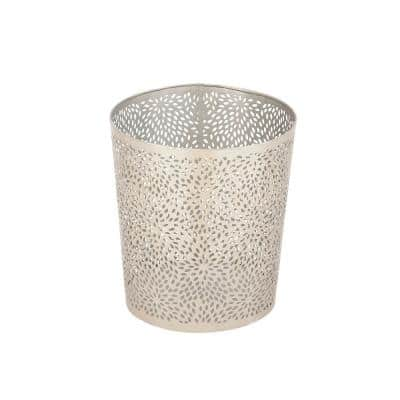 Silver Metal Contemporary Small Waste Bin