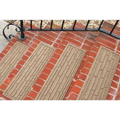 Broken Brick 8.5 in. x 30 in. Stair Treads (Set of 4) Khaki