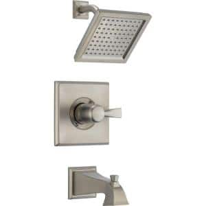 Dryden 1-Handle Tub and Shower Faucet Trim Kit Only in Stainless (Valve Not Included)