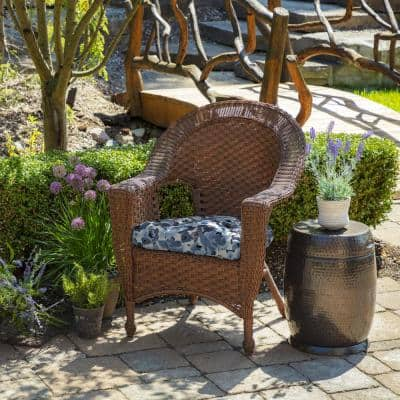 20 x 18 Garden Delight Tufted Outdoor Seat Cushion (2-Pack)