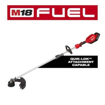 M18 FUEL 18-Volt Lithium-Ion Brushless Cordless String Trimmer with QUIK-LOK Attachment Capability and 8.0 Ah Battery