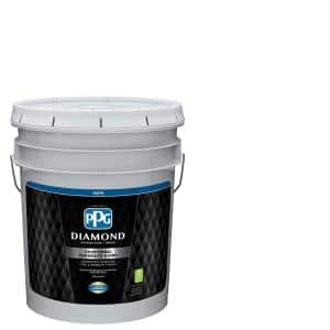 Ppg Diamond 5 Gal Pure White Satin Interior Paint And Primer Ppg53 410 05 The Home Depot