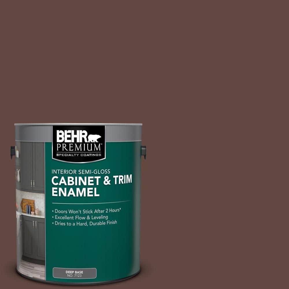 Behr Premium 1 Gal S G 790 Bear Rug Semi Gloss Enamel Interior Cabinet And Trim Paint 712301 The Home Depot