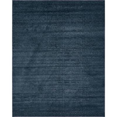 Uptown Collection Park Avenue Navy Blue 8' 0 x 10' 0 Area Rug