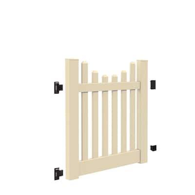 Kettle Scallop 4 ft. W x 4 ft. H Sand Vinyl Un-Assembled Fence Gate