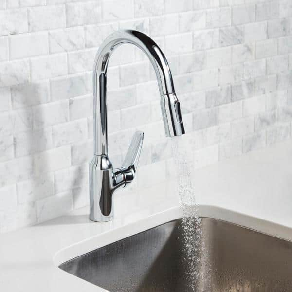 Hansgrohe Focus N Single Handle Pull Down Sprayer Kitchen Faucet In Chrome 71800001 The Home Depot