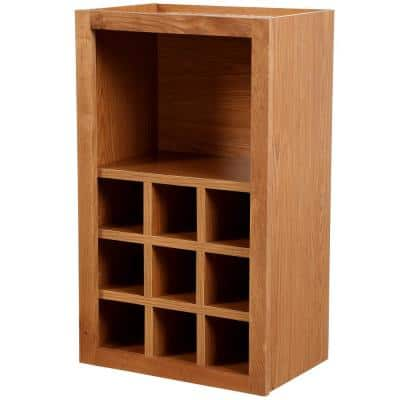 Hampton Assembled 18x30x12 in. Wall Flex Kitchen Cabinet with Shelves and Dividers in Medium Oak