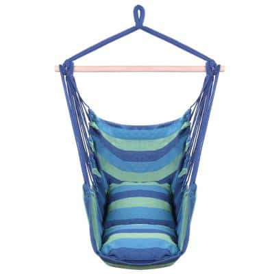1.96 ft. Portable Hammock Rope Chair Outdoor Hanging Air Swing in Multi-Colored