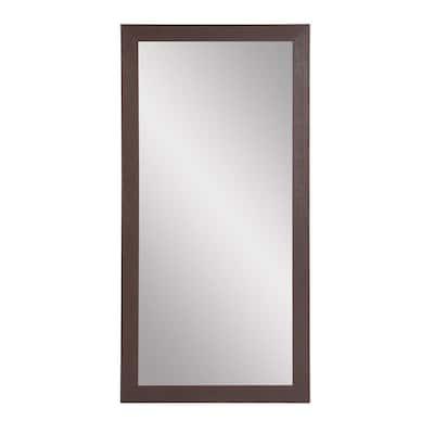 Oversized Dark Brown Farmhouse Modern Southwestern Mirror (71 in. H X 32 in. W)