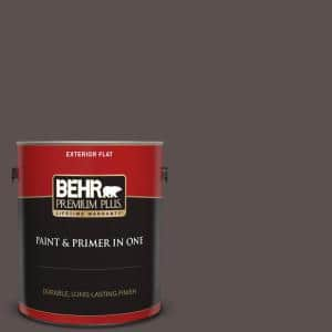 Behr Premium Plus 1 Gal M250 7 Blonde Wood Flat Low Odor Interior Paint And Primer In One 130001 The Home Depot