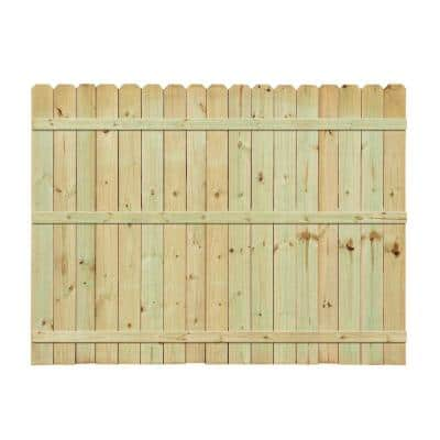 6 ft. H x 8 ft. W Pressure-Treated Pine Dog-Ear Fence Panel