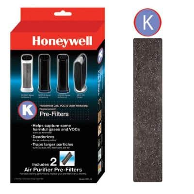 Odor and Gas Reducing Pre-Filter K (2-Pack)