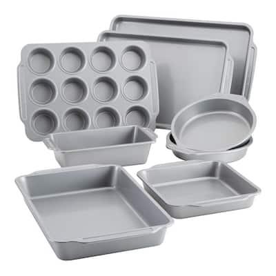 8-Piece Gray Nonstick Bakeware Set