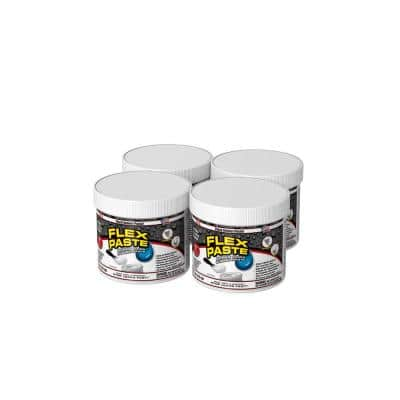Flex Paste 1 lb. White All-Purpose Strong Watertight Sealant (4-Pack)