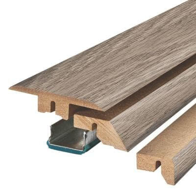 Grey Optimus Pine 3/4 in. Thick x 2-1/8 in. Wide x 78-3/4 in. Length Laminate 4-in-1 Molding