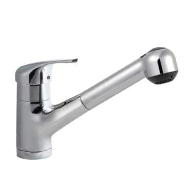 Reya Single-Handle Pull Out Sprayer Kitchen Faucet with CeraDox Technology in Polished Chrome