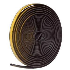 1/2 in. x 1/4 in. x 20 ft. Brown Silicone Self-Stick Weatherseal