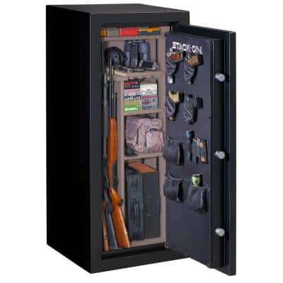 24-Gun Fire Resistant Electronic Lock Safe, Matte Black
