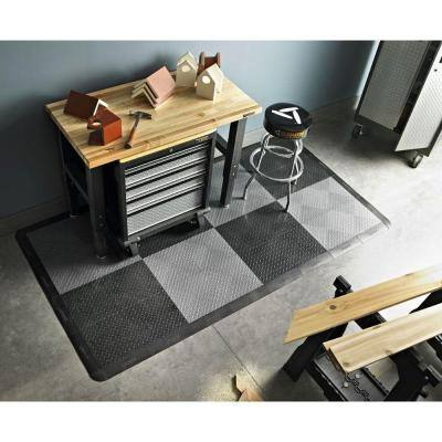 1 ft. x 1 ft. Blue Polypropylene Garage Flooring Tile (24-Pack)