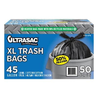 45 Gal. Extra Large Trash Bags (50 Count)
