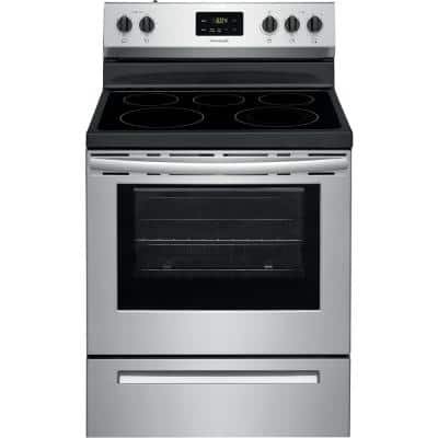 30 in. 5.3 cu. ft. Rear Control Electric Range in Stainless Steel