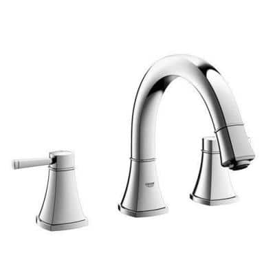 Grandera 2-Handle Deck-Mount Roman Bathtub Faucet in StarLight Chrome